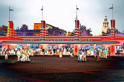 Disneyland California Adventure Entanceway Pa 02 Print by Thomas Woolworth