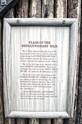Revolutionary War Mixed Media - Disneyland Flags Of The Revolutionary War Signage by Thomas Woolworth