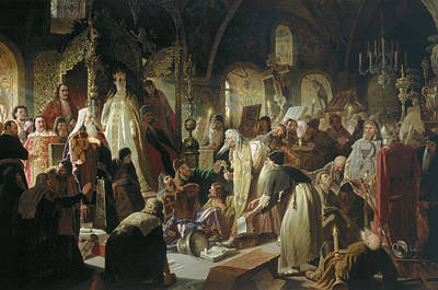 Nikita Painting - Dispute On The Confession Of Faith by Nikita Pustosviat