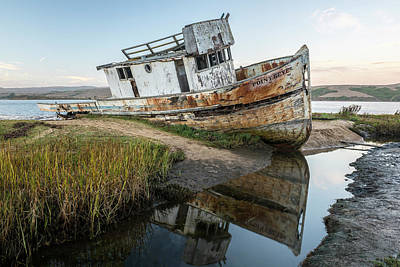 Boat Photograph - Disrepair In Point Repair by Jon Glaser
