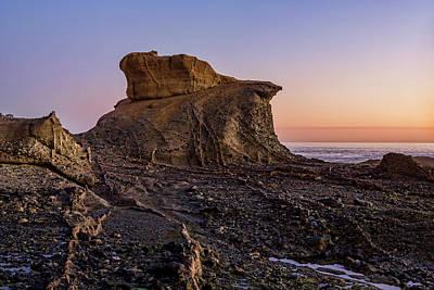 Distinctive Rock Aliso Beach Print by Kelley King