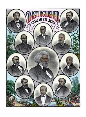Black History Mixed Media - Distinguished Colored Men by War Is Hell Store