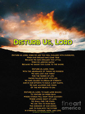 Inspirational Painting - Disturb Us Lord by Celestial Images