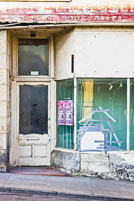 Disused Shop Print by Tom Gowanlock