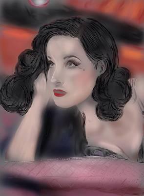 Dita Von Teese Digital Art - Dita by Allison Lowery