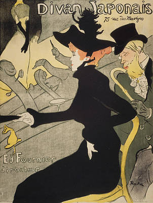 Post Drawing - Divan Japonais by Henri de Toulouse-Lautrec