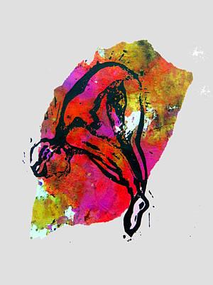 Mixed Media - Dive - Warm by Adam Kissel