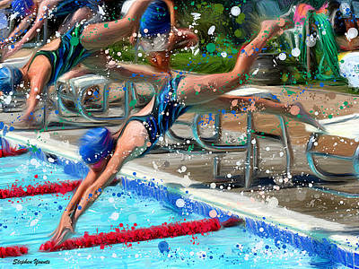 Dive Print by Stephen Younts
