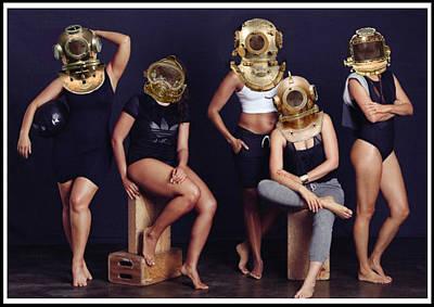 Diving Helmet Digital Art - Divers by Liggyzighat
