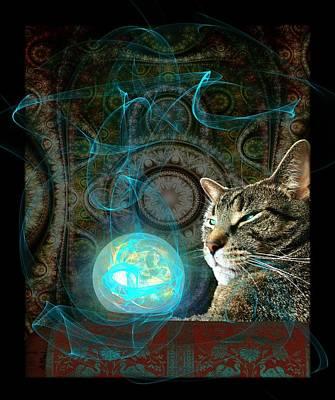 Cats Digital Art - Divination by Anastasiya Malakhova