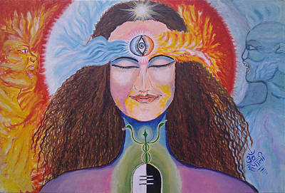 Tantra Painting - Divine Equilibrium - Balance Of Spiritual Life by Rupali Sharma