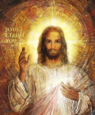 Resolution Painting - Divine Mercy, Sacred Heart Of Jesus 2 by Terezia Sedlakova Wutzay