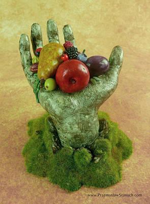 Surreal Sculpture - Divine Nutrition by Przemyslaw Stanuch