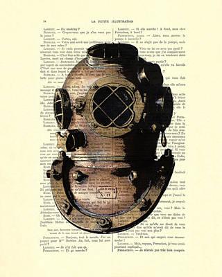 Diving Helmet Digital Art - Diving Helmet by Madame Memento