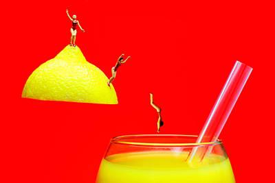Diving Into Orange Juice Original by Paul Ge