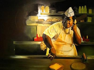 Cheeseburger Painting - Dj Cheeseburger by Infinheir Gallery