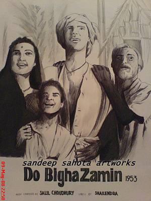 Catherine Jackson Painting - Do Bigha Zamin 1953 by Sandeep Kumar Sahota