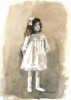 Tomboy Painting - Do I Have To Wear A Dress by Arline Wagner