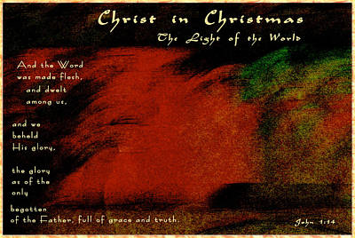 Do You See Christ In Christmas Print by Terry Wallace
