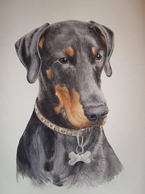 Dobermann Drawing - Dobermann by Keran Sunaski Gilmore