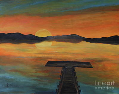 Exit Painting - Dock At The Bay  by Christiane Schulze Art And Photography