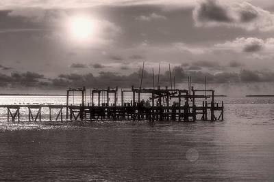 Dock Of The Bay Print by Paul  Wilford