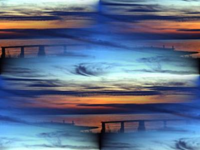 Sunset Abstract Photograph - Dock Of The Bay by Tim Allen