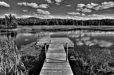 Dock On The Moose River Print by David Patterson