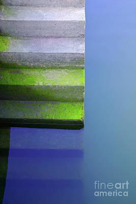 Dock Stairs Print by Carlos Caetano
