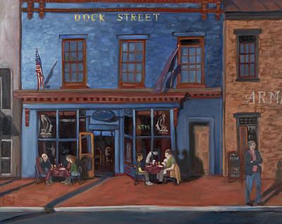 Edward Williams Painting - Dock Street-annapolis by Edward Williams