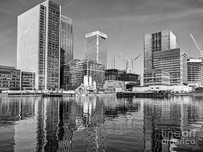 Docklands Construction Print by John G Kavanagh
