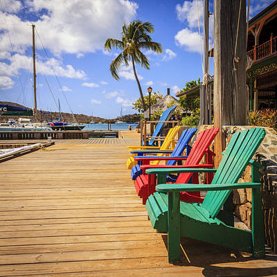 Empty Chairs Photograph - Dockside Lounge by Alexey Stiop