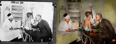 Heart Beat Photograph - Doctor - At The Pediatricians Office 1925 - Side By Side by Mike Savad