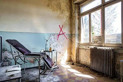 Doctor Chair Awaits Patient - Urban Exploaration Print by Dirk Ercken