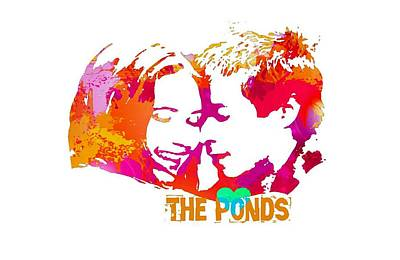 Gillian Digital Art - Doctor Who Inspired, The Ponds by Alondra Hanley