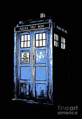 Doctor Who Tardis Print by Edward Fielding