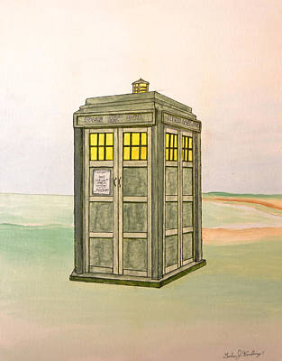 Dr. Who Painting - Doctor Who Tardis by Gordon Wendling