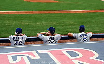 Don Mattingly Photograph - Dodgers At Atlanta by Marilyn Benham