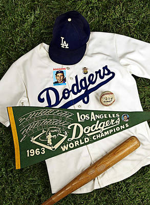 Dodgers Sweep Yankees Print by Ron Regalado