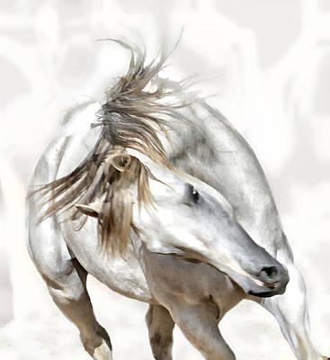 Horses Photograph - Dodging by Michael Hamilton