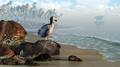 Fauna Digital Art - Dodo Afternoon by Daniel Eskridge