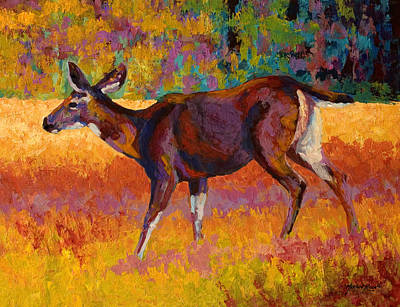 Whitetail Painting - Doe IIi by Marion Rose
