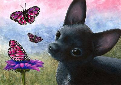 Chihuahua Painting - Dog 91 by Lucie Dumas