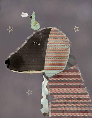 Dachshund Art Digital Art - Dog And Bird by Bri B