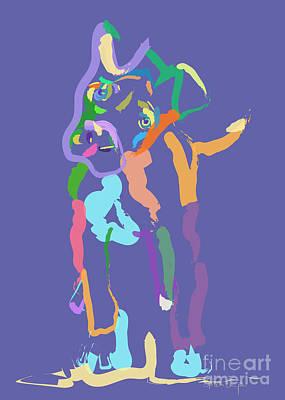 Dog Abstract Art Digital Art - Dog Cookie by Go Van Kampen