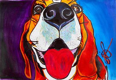 Puppe Painting - Dog Daze Of Delilah by Jordan  Bodenhamer Barnard