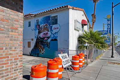 Chow Mural Downtown Vegas Print by Daniel Furon