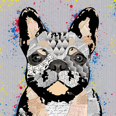 Bedroom Mixed Media - Dog Portrait 3 by Mihaela Pater