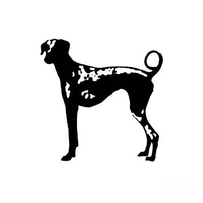 Dogs Drawing - Dog Tee by Edward Fielding
