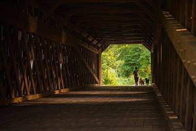 Bucks County Photograph - Dog Walking by Kristopher Schoenleber
